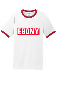 EBONY THROWBACK LOGO COLLECTION - RINGER TEE