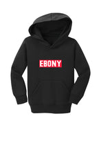 Load image into Gallery viewer, EBONY THROWBACK LOGO COLLECTION - HOODIE (CHILD)