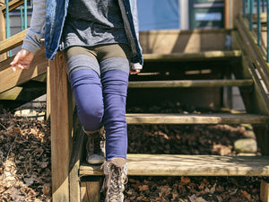 No Slip Midnight Blue Ribbed Leg Warmer