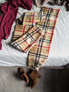 Classic Plaid Fleece Leg Warmer
