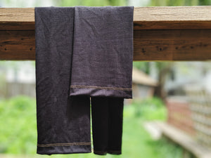 Black Ribbed Leg Warmer