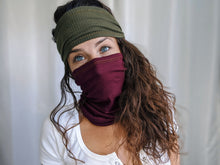 Load image into Gallery viewer, eco-friendly-ribbed-knit-mask-headband