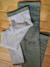 Load image into Gallery viewer, Olive French Terry/Sherpa Leg Warmer