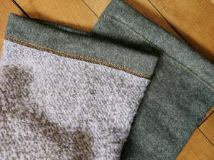 Olive French Terry/Sherpa Leg Warmer