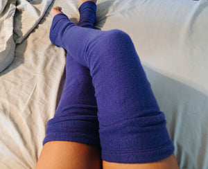 Purple Fleece Leg Warmer
