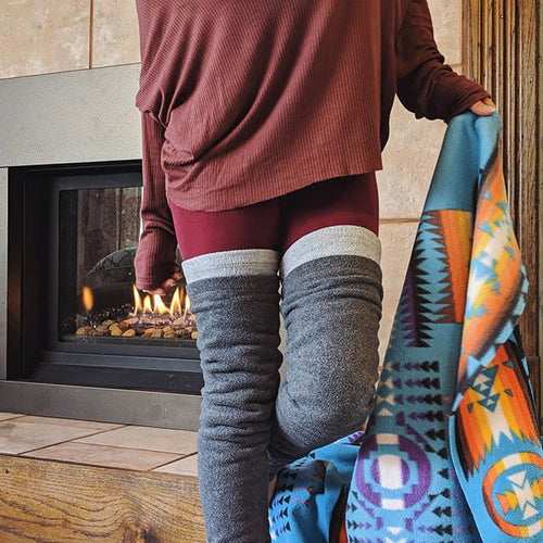 Dark Gray Fleece Leg Warmer
