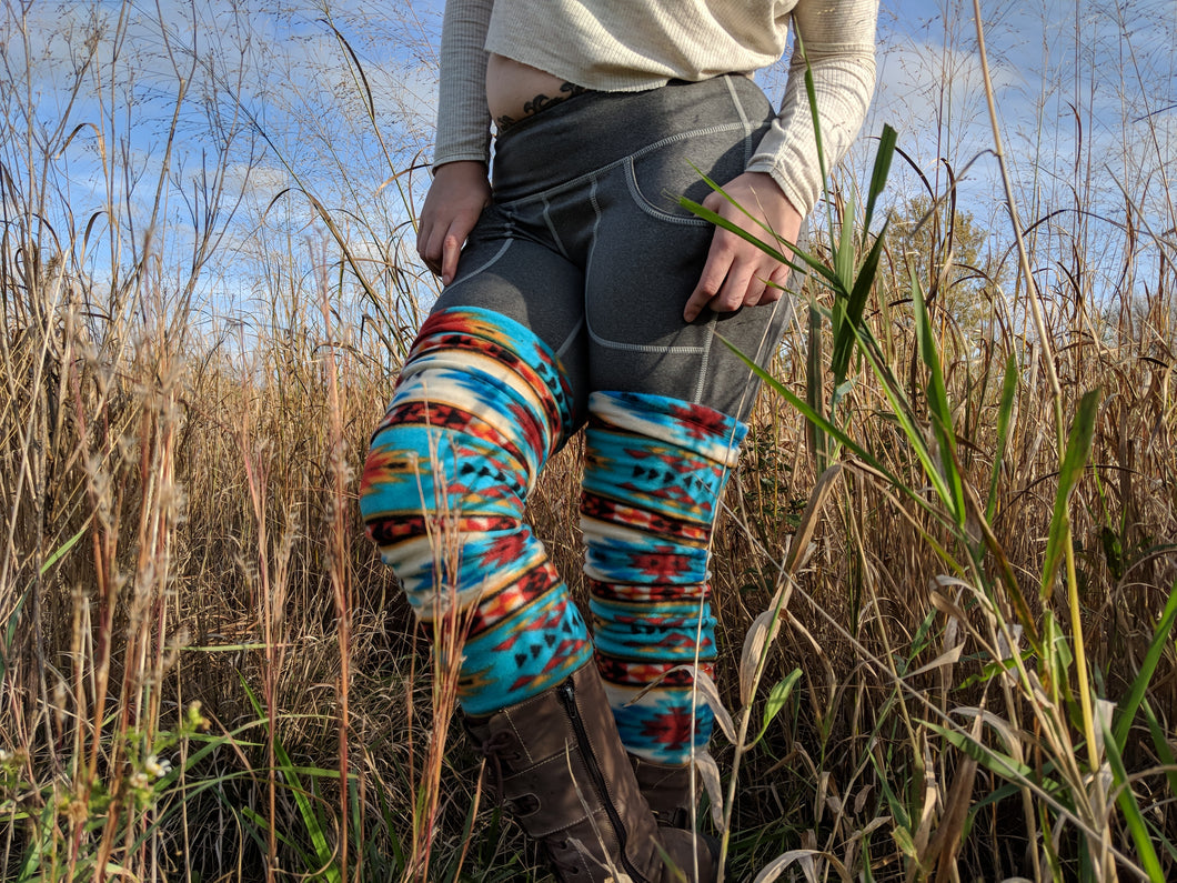 Tribal Aztec Fleece Leg Warmer