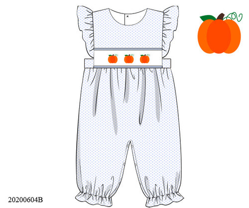 Bitty Dot Pumpkin Romper