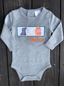 Pup, antler, and vest faux smock