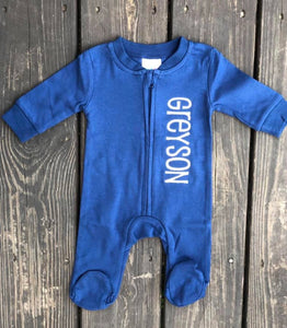 Personalized baby footie