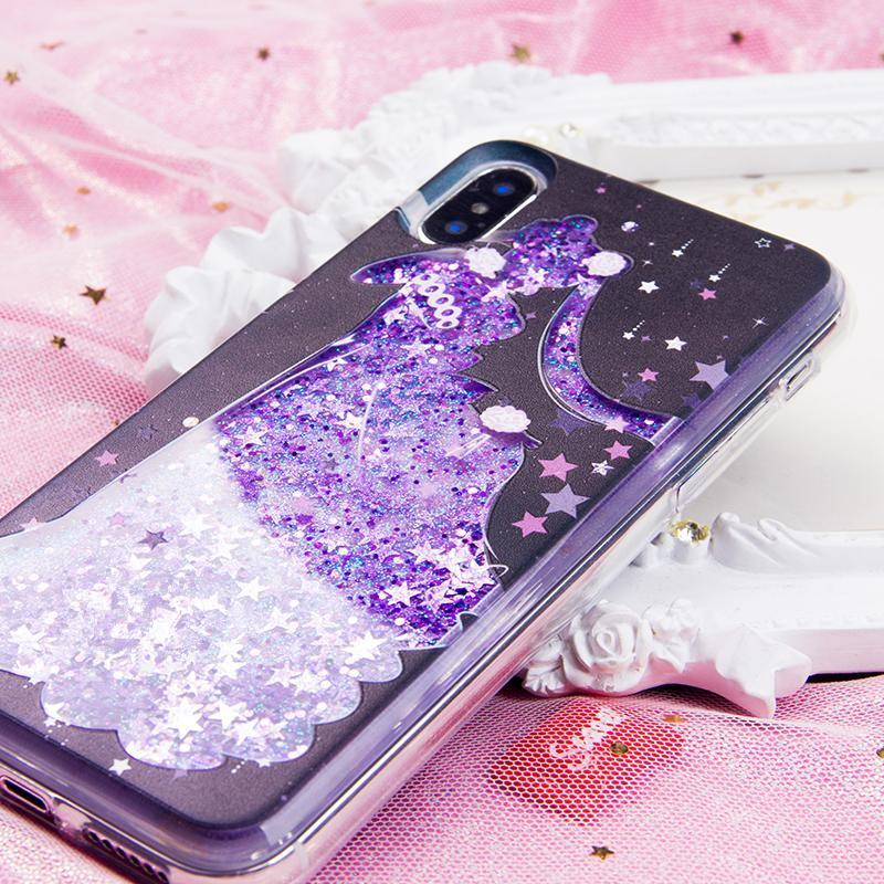 new concept 81ca7 b57a5 Sailor Moon Serenity Quicksand Liquid Glitter Phone Case SP1812509