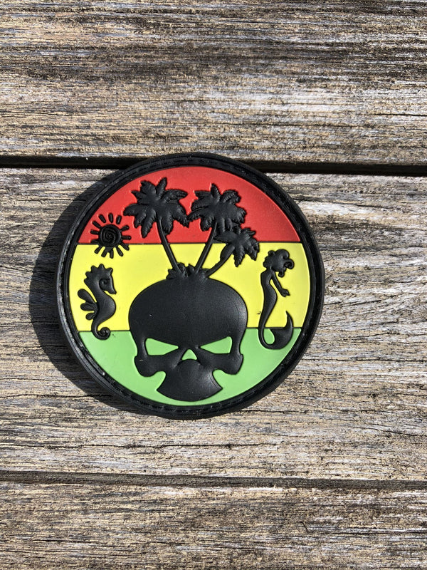 3D PVC RASTA ISLAND PATCH