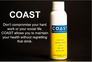Drinking Coast means you do not have to compromise your hard work or social life. Drinking Coast allows you to maintain your health without regretting that drink of alcohol. A natural alcohol detox, it allows you to drink healthy and limit a hangover.