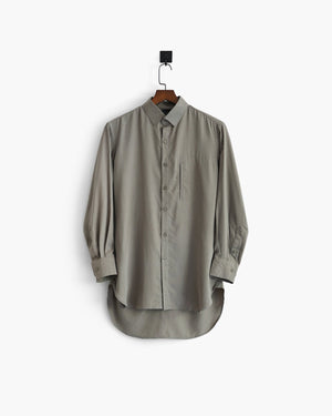 ROSEN Professional Shirt in Khaki Sandwashed Silk Sz 1