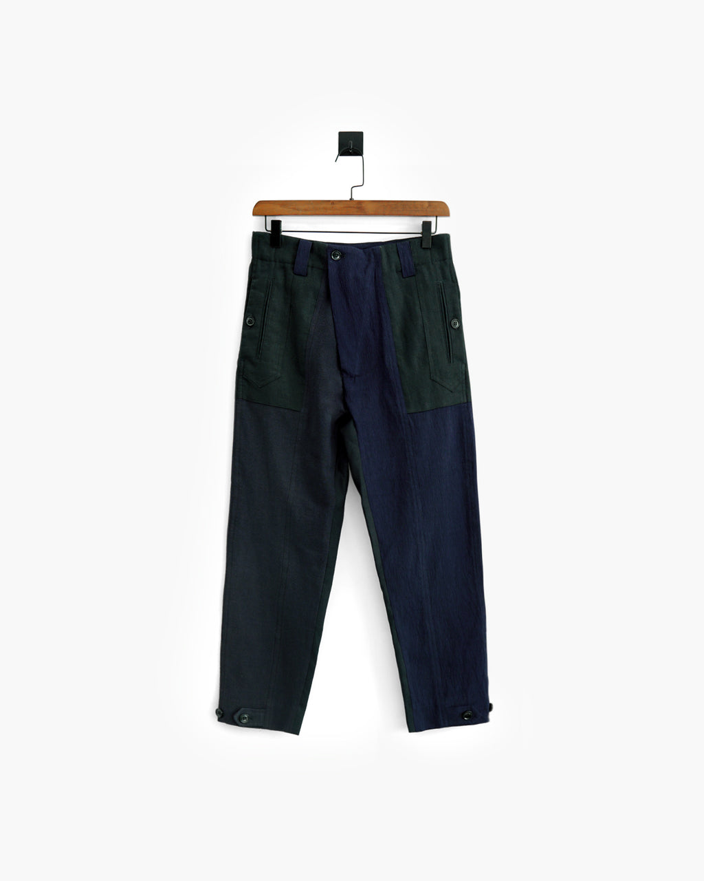 ROSEN Pascal Trousers in Patchwork Linen Sz 1