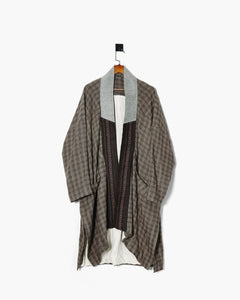 ROSEN Mengzi Coat in Checkered Linen Sz 1-2