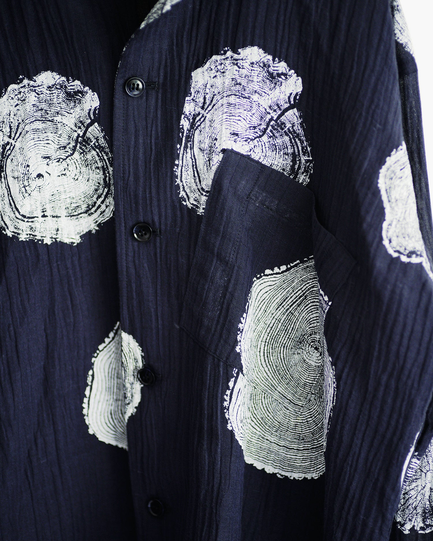 ROSEN-S Leisure Shirt in Printed Linen Sz 2
