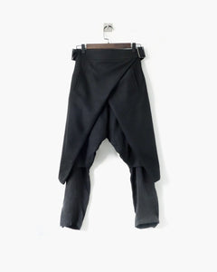 ROSEN Ingvar Trousers in Black Wool Twill
