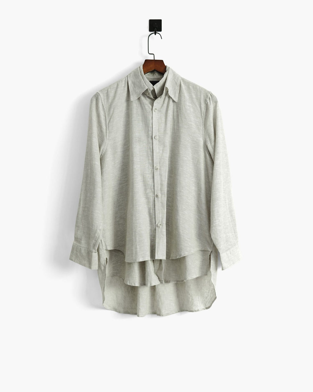 ROSEN Oliver Shirt in Grey Linen Sz 1