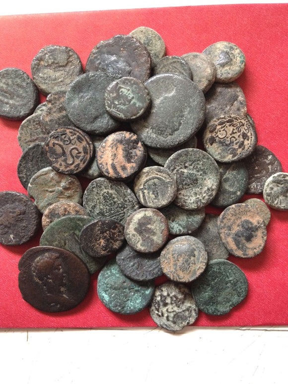 Uncleaned-Roman-Provincial-Coins-From-Israel-www.nerocoins.com