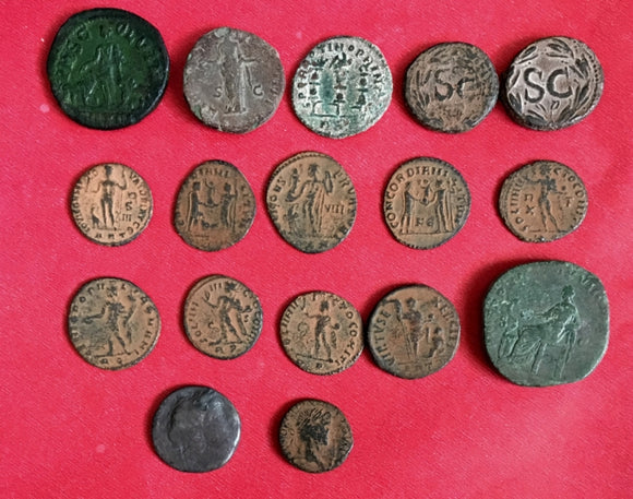 Lot-of-17-Uncleaned-Larger-Roman-Desert-Coins-from-ISRAEL-www.nerocoins.com