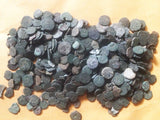LOT-OF-50-UNCLEANED-AND-UNSORTED-ANCIENT-JUDAEA,-JEWISH-BIBLICAL-COINS-www.nerocoins.com