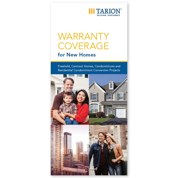 "Warranty Coverage for New Homes (4"" x 9"")"