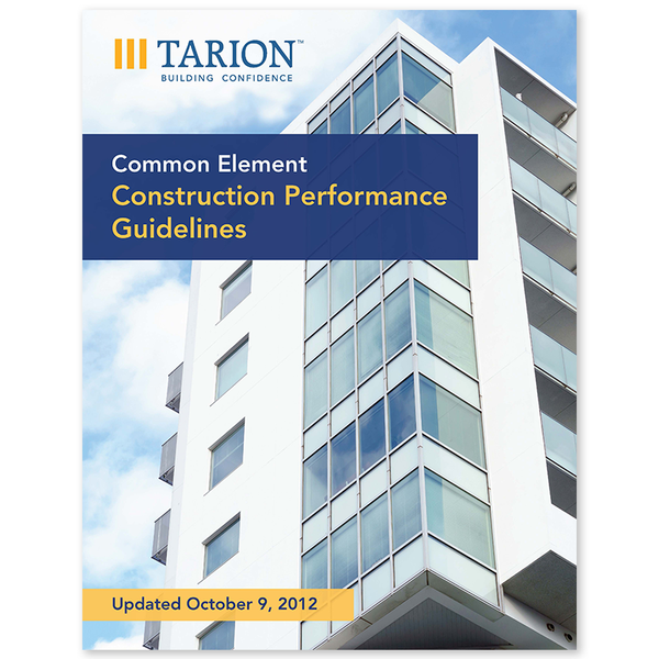 Common Element Construction Performance Guidelines