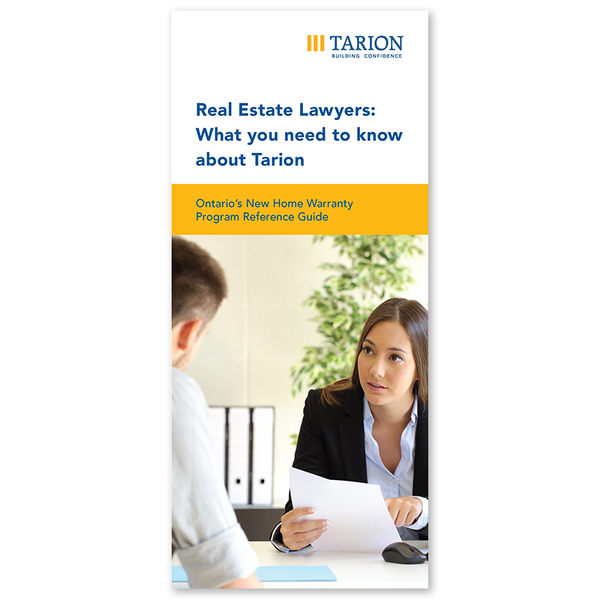 Real Estate Lawyers: What You Need to Know about Tarion