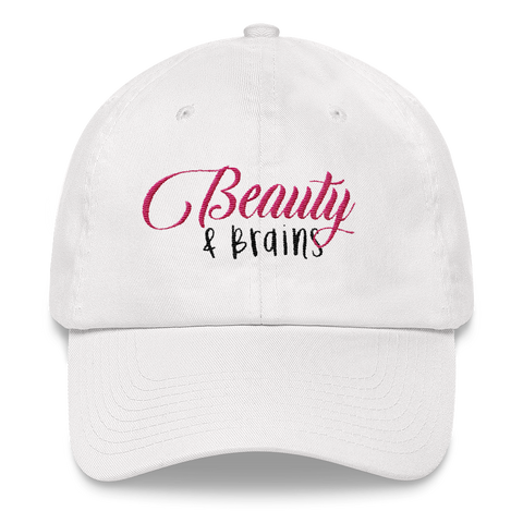 Beauty and Brains Logo Dad Hat- Classic Colorwave