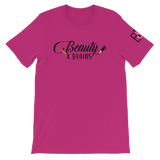 Beauty and Brains Black Logo Short-Sleeve Unisex T-Shirt- Various Colors