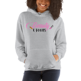 Classic Beauty and Brains Logo Hoodie