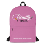 Pink Beauty and Brains Backpack
