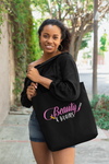 Large CUSTOMIZABLE Beauty and Brains Tote Bag