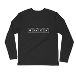 BLACK Periodic Table Long Sleeve Fitted Crew