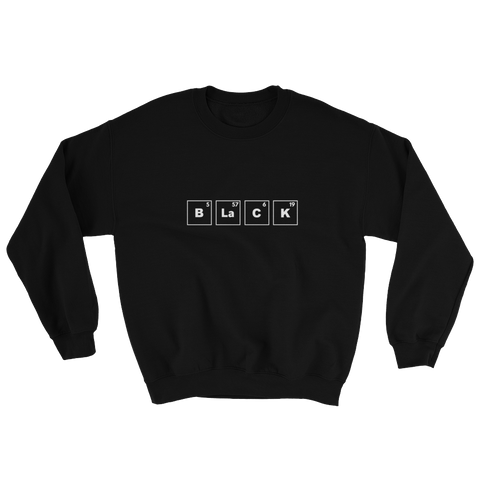 Black Periodic Table Sweatshirt