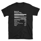 Black Girl Nutrition Facts Short-Sleeve Unisex T-Shirt