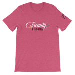 Beauty and Brains Logo Short-Sleeve Unisex T-Shirt - Pink