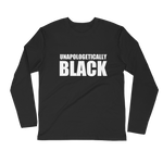 Unapologetically Black Long Sleeve Fitted Crew