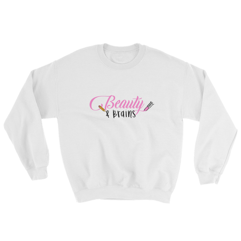 Classic Beauty and Brains Logo Sweatshirt
