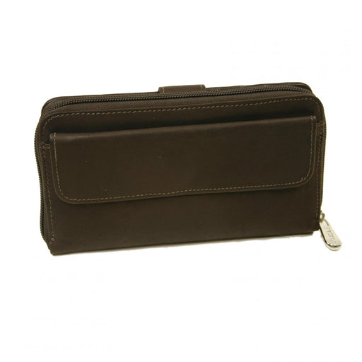 Piel Leather Ladies Multi-Compartment Wallet