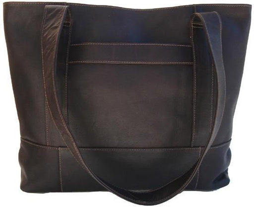 Piel Leather Top-Zip Tote