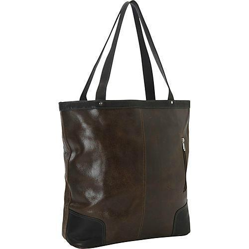 Piel Leather Vintage Vertical Tote