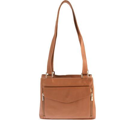 Piel Leather Double Compartment Shoulder Bag