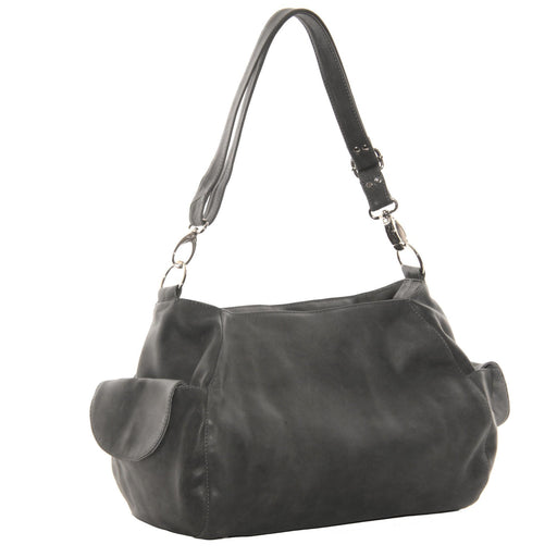 Piel Leather Top-Zip Cross Body Hobo