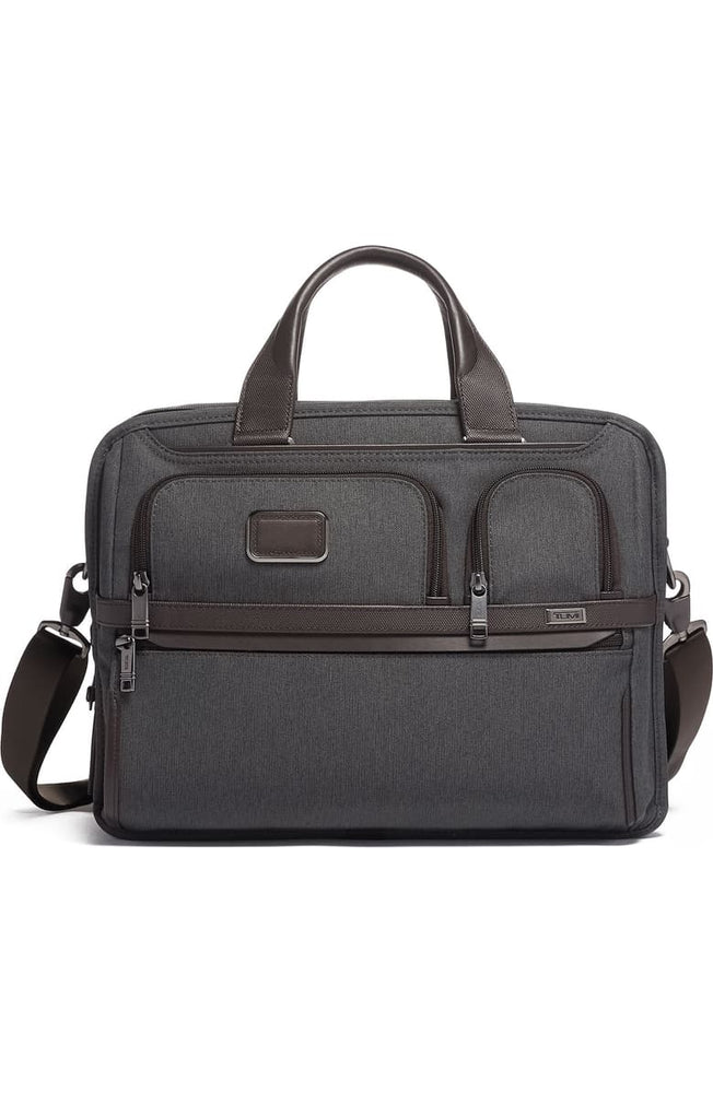 Alpha 3 Expandable Organizer Laptop Briefcase