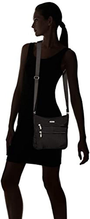 Baggallini Top Zip Flap Crossbody with RFID Wristlet