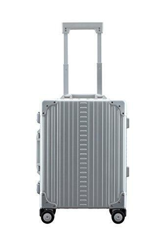 "Aleon 19"" International Carry-On Aluminum Hardside Luggage (Platinum) Silver"