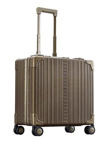 "Aleon 17"" Aluminum Hardside Deluxe Rolling Wheeled Business Briefcase (Champagne) Brown"