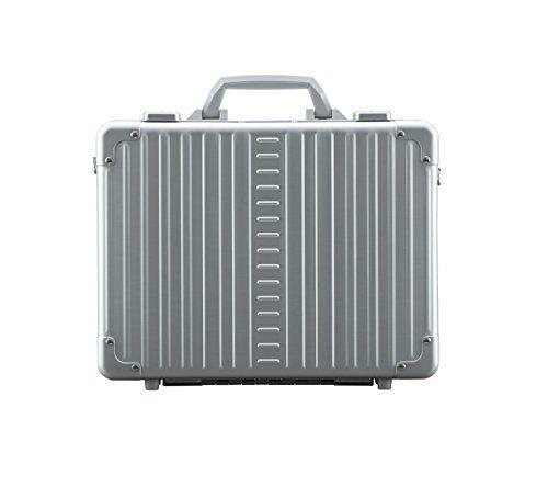 "Aleon 15"" Business Attache Aluminum Hardside Business Briefcase (Platinum) Sliver"